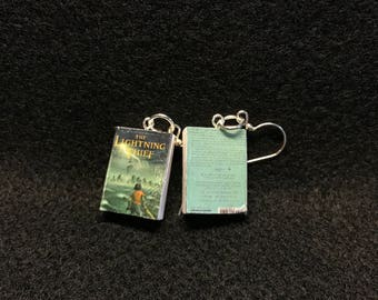 Percy Jackson, The Lightning Thief Book Earrings