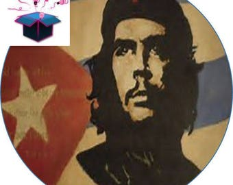 1 cabochon clear 20mm che guevara flag theme
