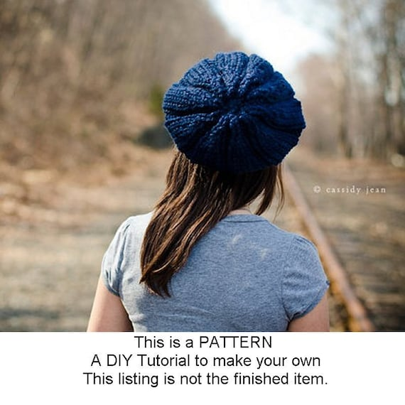 Instant Download Knitting Pattern - Womens Hat Pattern - Knit Hat Pattern Urchin Beret Pattern - Womens Beret Pattern - Womens