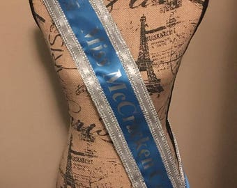 Custom Made Sash Any Title Any Clipart