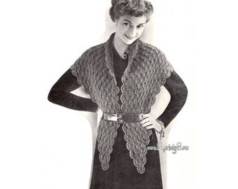 Vintage Shawl crochet pattern in PDF instant download version , PDF pattern