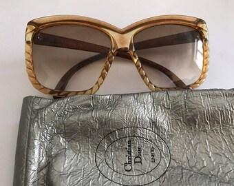 Vintage Christian Dior sunglasses oversized plastic