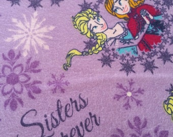"""SALE - 33% off! Brushed Cotton / Flannel Fabric: Disney's """"Frozen"""" in Lilac"""