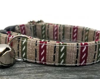 Geometric Cat Collar,Christmas cat collar,Christmas Gifts, Breakaway Collars, Cotton Cat Collars, Cat Collars, Kitty Collar, Cats Collar