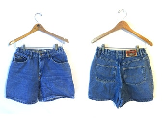 90s High Waisted General Denim Shorts Womens 10 28