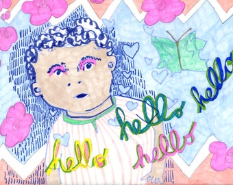 Postcard: Hello Hello Hello Hello