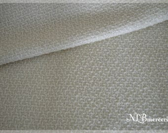 Terry ivory fabric