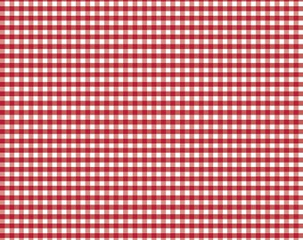 1/8 th inch small Red gingham basics by Riley Blake -  C440-80 red