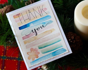 Thank You Colored Lines- Notecards