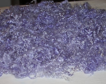 Premium Yearling Grade Mohair dyed in shades of Iris From Grand Champion Delilah 1oz