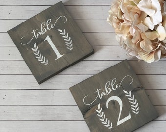 Rustic table numbers   Etsy