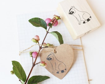 Rubber stamp Raccoon