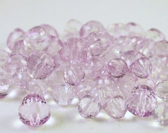 Lilac Purple Faceted Acrylic Gumdrop Beads, Wholesale Beading Supplies