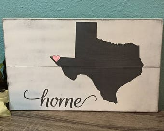 Custom States Wood Sign • TEXAS State Sign • State Pride Longhorn Sign • Rustic Wall Art • State outline plaque • Texas A&M art •ANY STATE!