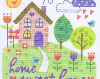 Home Sweet Home Cross Stitch Kit (DMC BK1533)