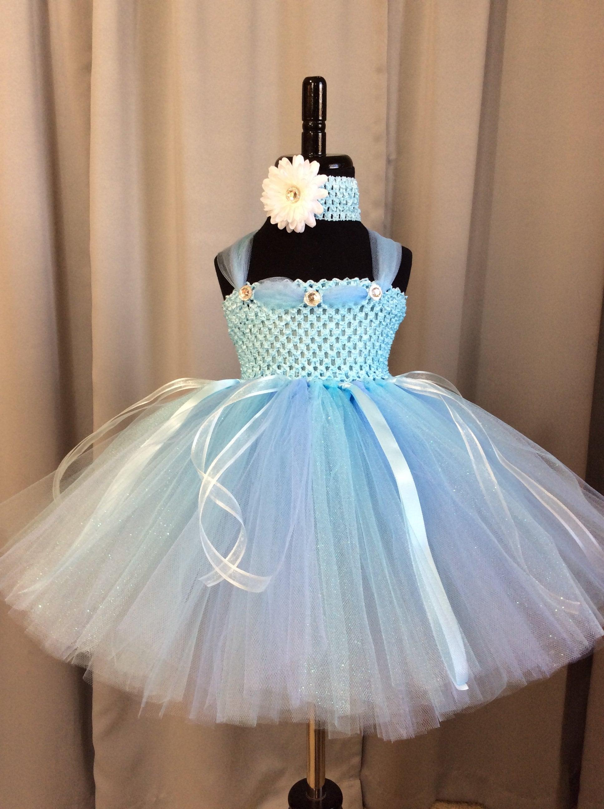 Light blue princess tutu dress, infant tutu, little girl tutu ...