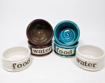 Custom Pet Bowls, SMALL, Pet Bowls, Personalized