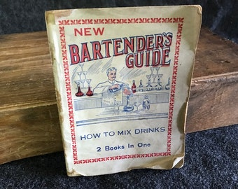Rare 1914 New Bartender's Guide How to Mix Drinks
