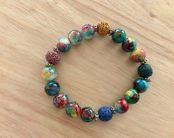 Rainbow Diffuser Bracelet