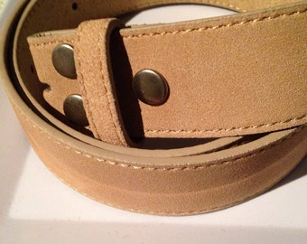 Tan Suede snap belt sizes XS-L