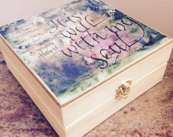 Essential Oil Box- It is Well - Natural Finish