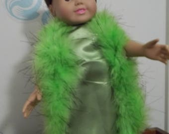 """18"""" doll Lime green gown 380E"""