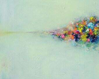 Abstract art print,Giclee Print,original abstract painting-Abstract Landscape print- wall decor,wall art, fine art print 10x10 12x12 16x16