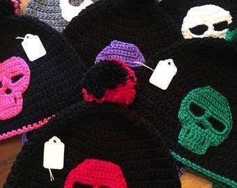 Crochet Skull Hat