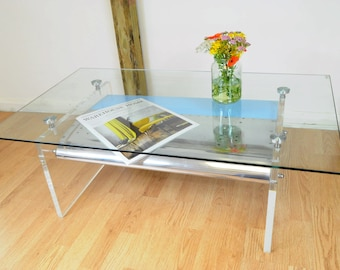 Acrylic Wing Coffee Table is Upcycled from decommissioned Boeing 757 wing leading edge flap