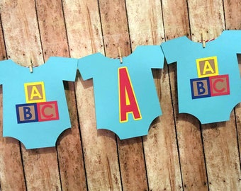Baby Shower Decorations, Blocks Baby Shower Banner, It's a Boy Baby Outfit Banner, Nursery Decor, Blocks Baby Decorations, Blocks Banner