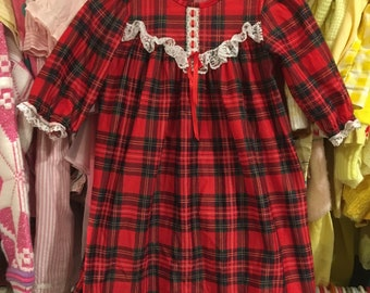 Plaid Night Gown 9/12 Months