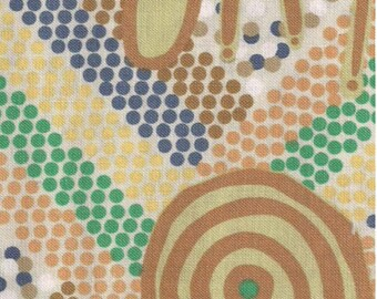 Australian Aboriginal fabric Wankaji Ash