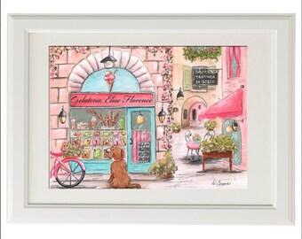 Travel Themed Nursery, Italian Nursery Decor, Nursery Wall Art, Italian Baby Girl Nursery, Personalized Girl Shower Gift, Girl Gift Idea