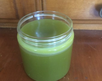 Green tea eye cream. Infused green tea cream. Eye serum