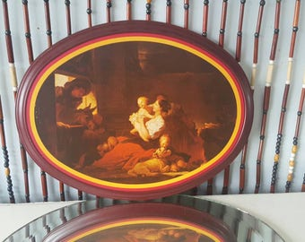 Tin Art Sign - The Happy Family by Jean-Honore Fragonard