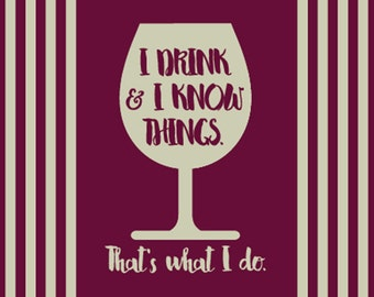 Biglietto da visita I Drink and I know Things - SPECIAL PRICE!