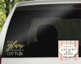 Glam Decal / Girly Decal / Glamorous Woman / Vinyl Decal / Car Decal for Women / Laptop Decal / Mirror Decal / Tumbler Decal