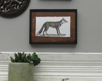 "home decor - ""Vintage Fox""- farmhouse - wall art"