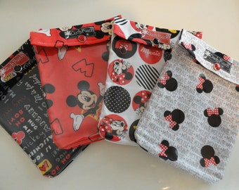 Disney Cruise Fish Extender Gifts Mickey & Minnie Ouch Pouch First Aid Diaper Bag Vacation Kids Organizers Medium 5x7 You Choose Quantities