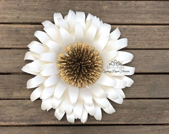 CHRYSANTHEMUM Paper Flower Template & Tutorial manual/svg pdf CriCut Silhouette Cameo DIY paper flower pattern/How to make a paper flower