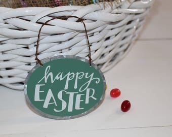 Happy Easter-Tin Ornament