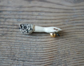 Ceramic connector pendant Hand.Ceramic handmade