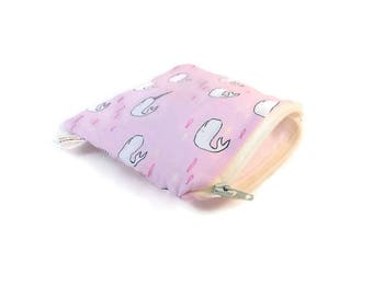 Narwhal Snack Bag || Reusable Sandwich Bag || Reusable Snack bag || Eco Friendly Gift || Zippered Pouch || Food Safe Bag