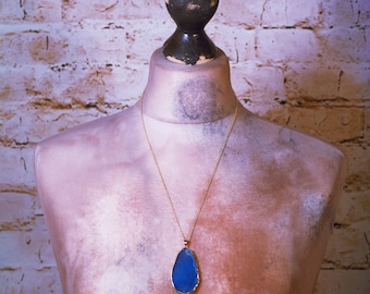 crystal pendant gold chain necklace