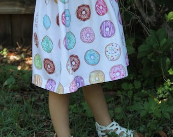 Delicious Donut Dress, baby dress, toddler dress, girl dress, summer dress, spring dress, doughnut dress, doughnut outfit
