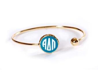 ADPI  Alpha Delta Pi Sorority Monogrammed Sisterhood Bracelet.