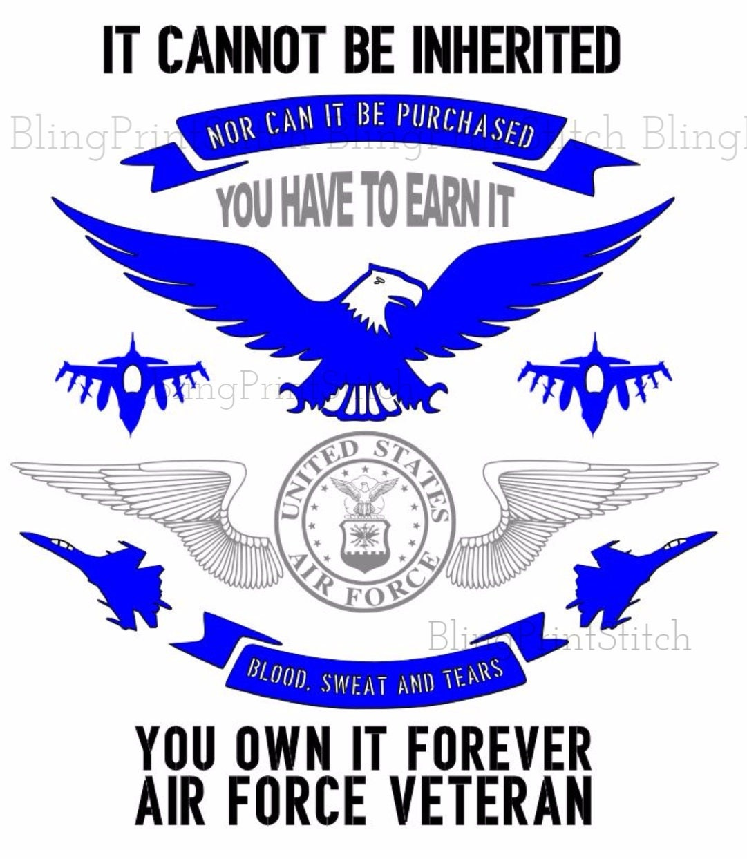 Retired Air Force Veteran SVG file
