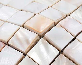 8mm thickness Mother of pearl shell Mosaic kitchen backsplash tile MOP131 seashell bathroom wall tiles