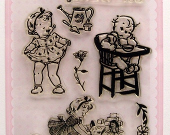 Baby - vintage series - set 3 - Flonz clear stamps
