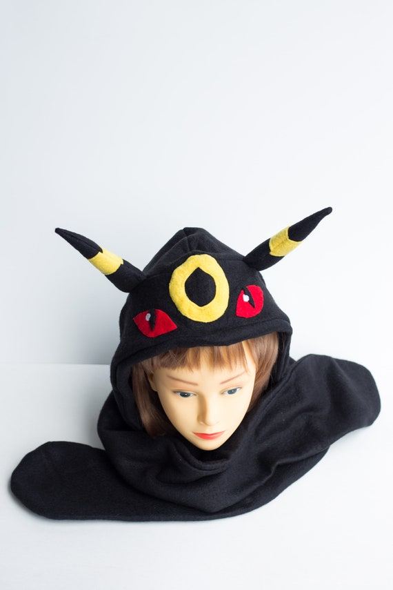 Umbreon Hat - LAST ONES! - Pokemon Hat - Pokemon Scoodie - Umbreon Scoodie - Umbreon Costume - Pokemon Costume - Pokemon Scarf - Umbreon Cos